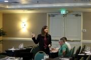 Carol Rau addressing the group